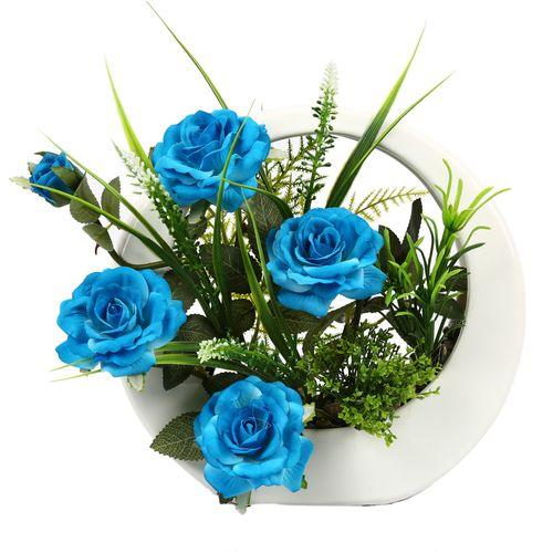 گلدان به همراه گل مصنوعی هومز مدل50074
