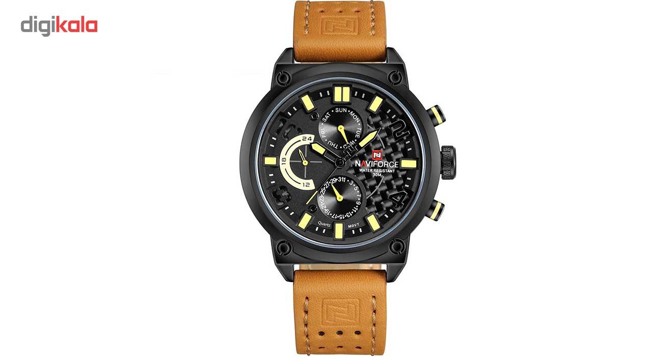 خرید ساعت مچی عقربه ای مردانه نیوی فورس مدل NF9068LBYBN