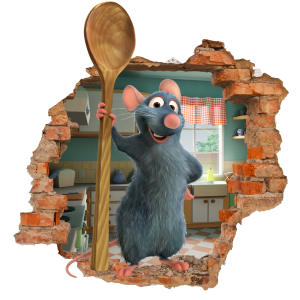 استیکر دیواری سالسو طرح موش سرآشپز