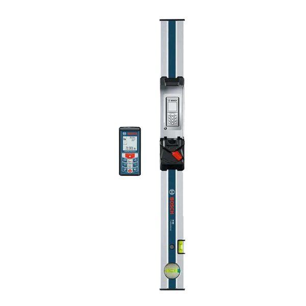 متر لیزری بوش مدل GLM 80 به همراه ریل شیب سنج R 60 | Bosch GLM 80 Laser Distance Meter With R 60 Measuring Rail