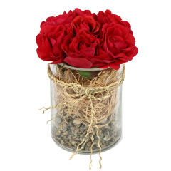گلدان دکوری به همراه گل مصنوعی هومز مدل 50100