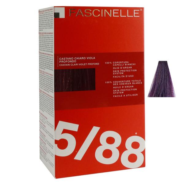كيت رنگ مو فشینلی سری Fashion بنفش بادنجاني شماره 5.88