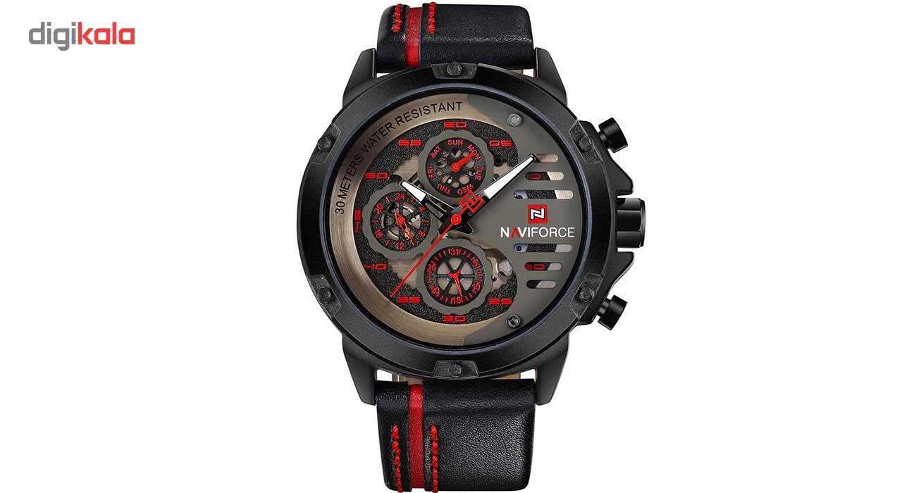خرید ساعت مچی عقربه ای مردانه نیوی فورس مدل NF9110BRB