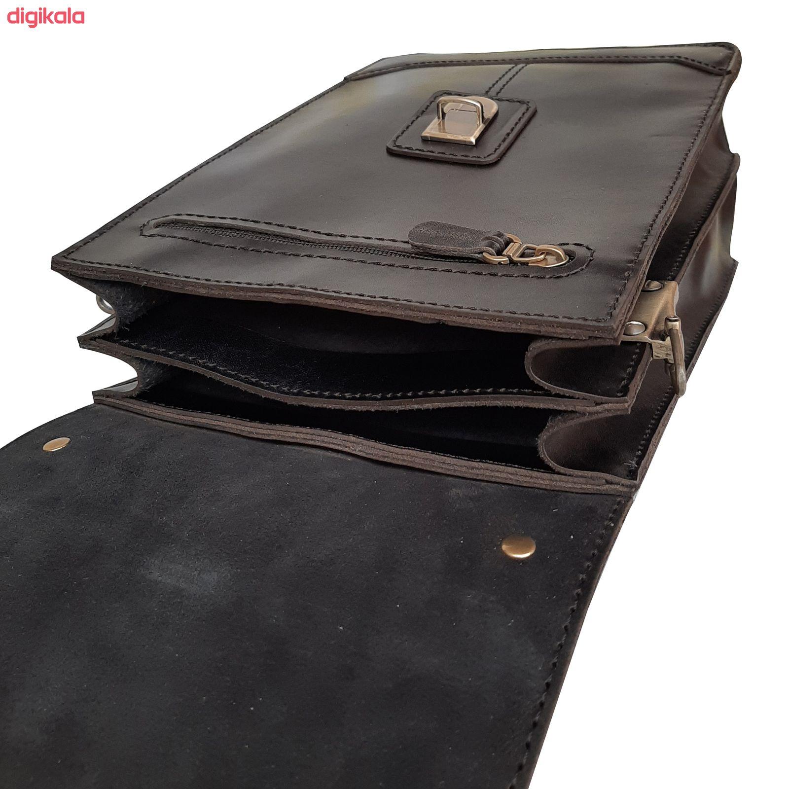 کیف دوشی مردانه چرم روژه مدل ES01B main 1 2