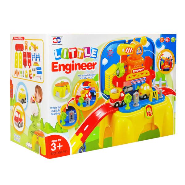 ست ماشین بازی و جرثقیل در جاده هوشمند ژیونگ چنگ مدل Little Engineer 008-805