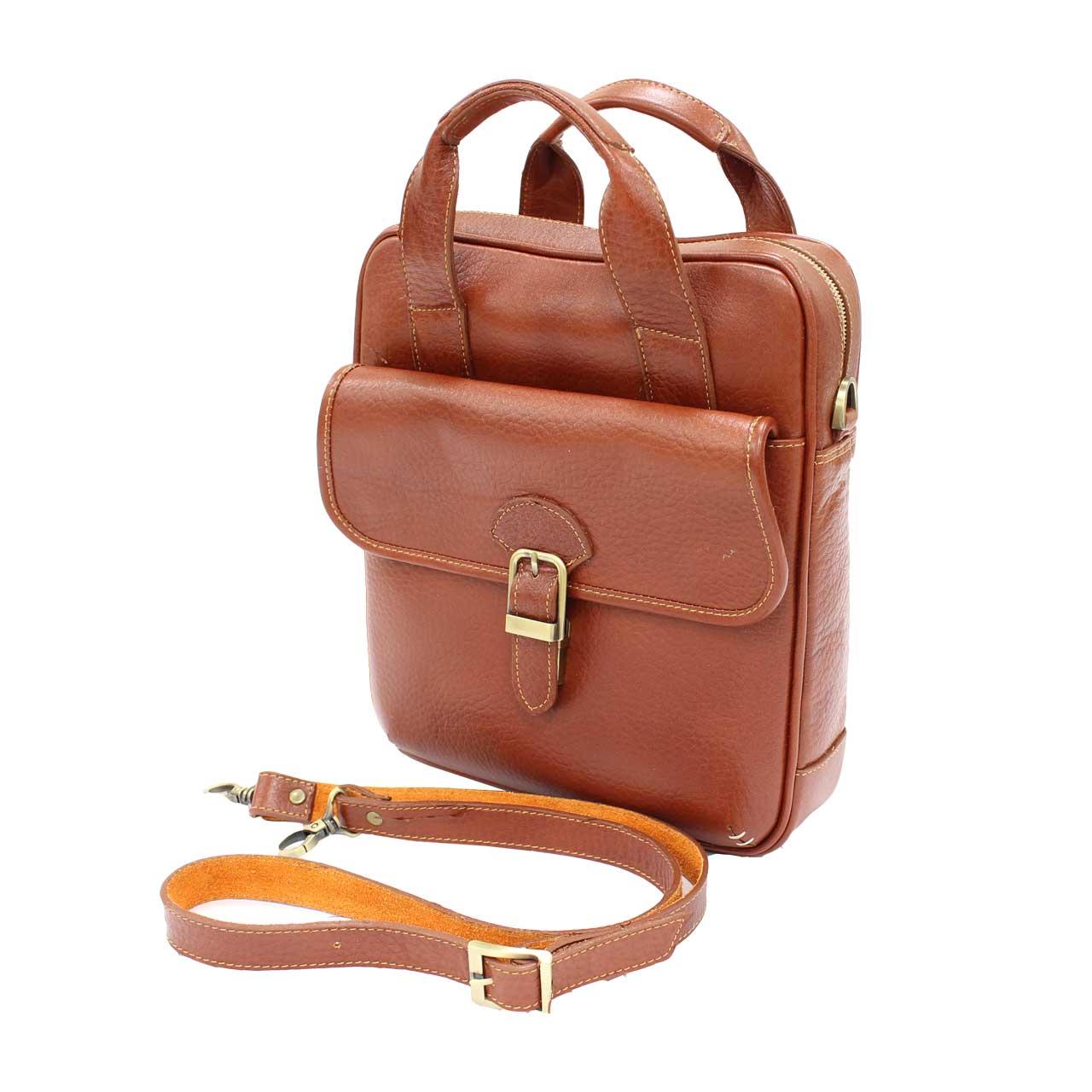 کیف دوشی چرم طبیعی آروین چرم مدل 129
