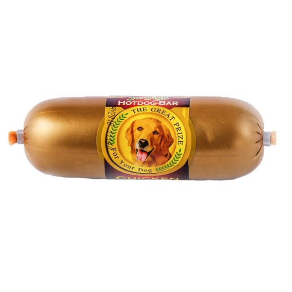 غذای تشویقی سگ جرهای مدل Hotdog-Bar وزن 150 گرم