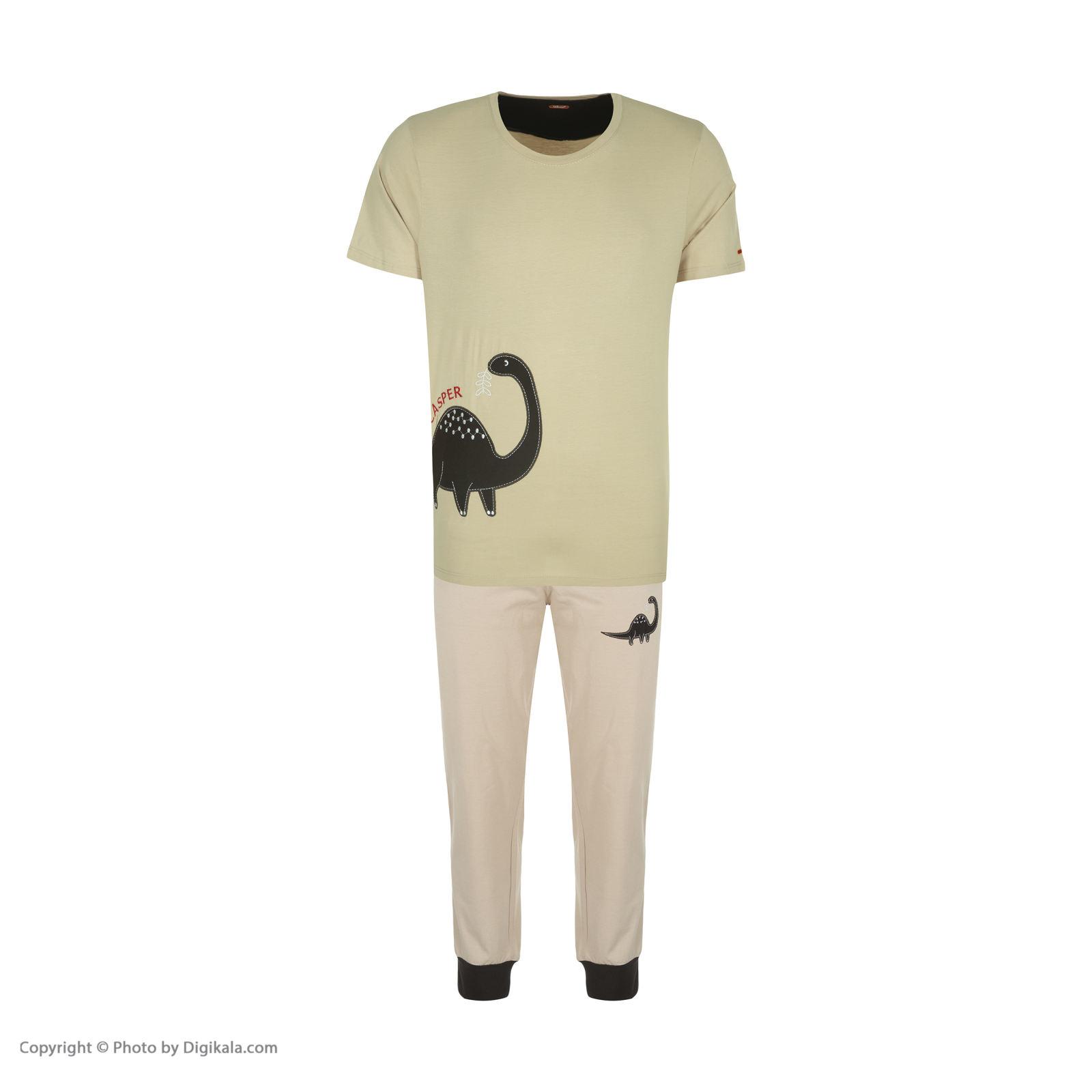 ست تی شرت و شلوارک راحتی مردانه مادر مدل 2041106-07 -  - 3