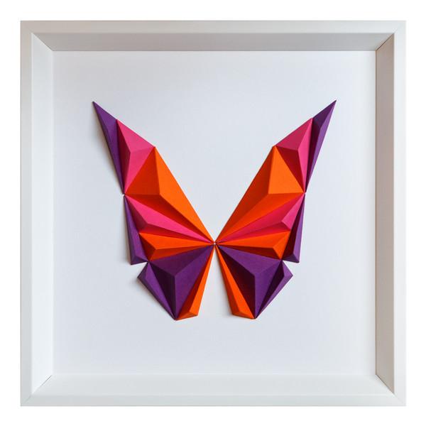 تابلو مقوایی سه بعدی گروه هنری ارژنگ مدل پروانه کد CR004d