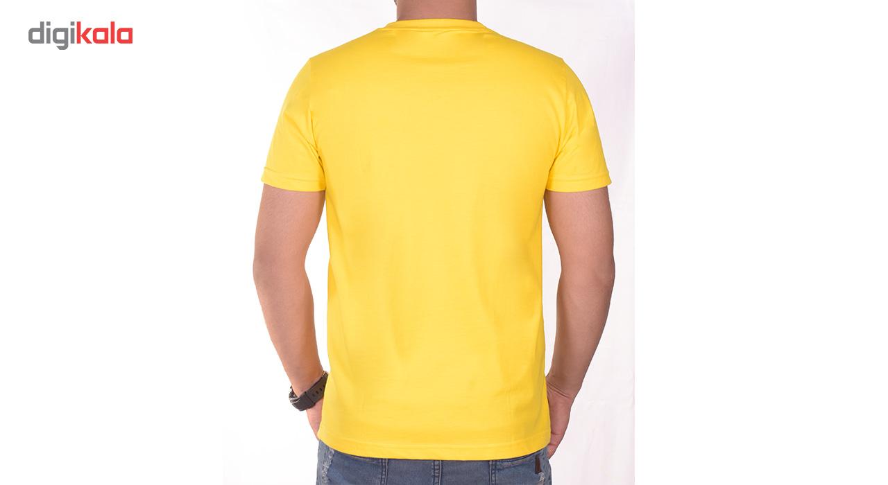 تی شرت مردانه سیمپل  مدل sw3-yellow