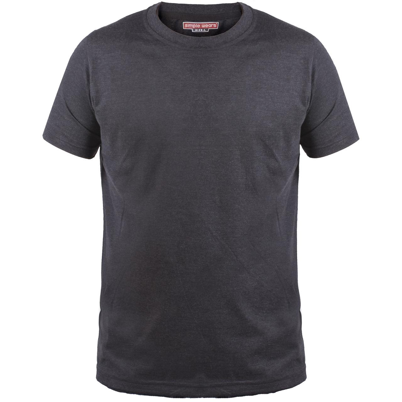 تی شرت مردانه سیمپل مدل sw3-Grey