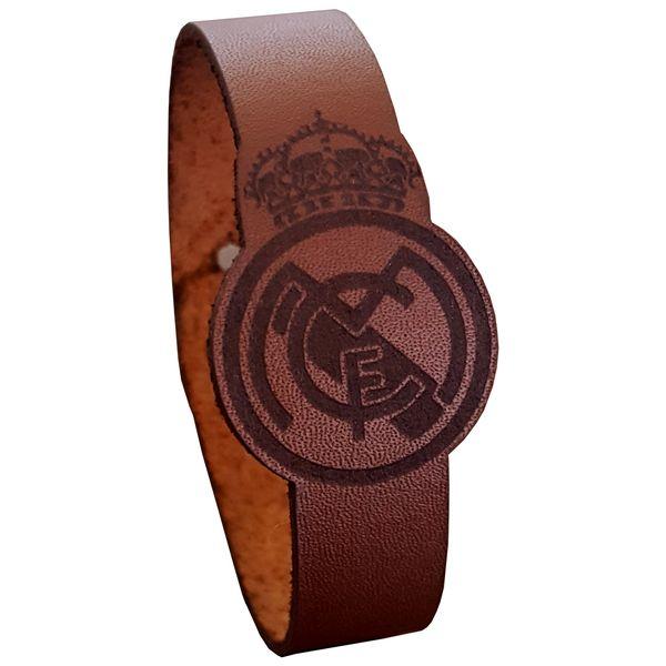 دستبند چرمی مدل رئال مادرید کد 1018