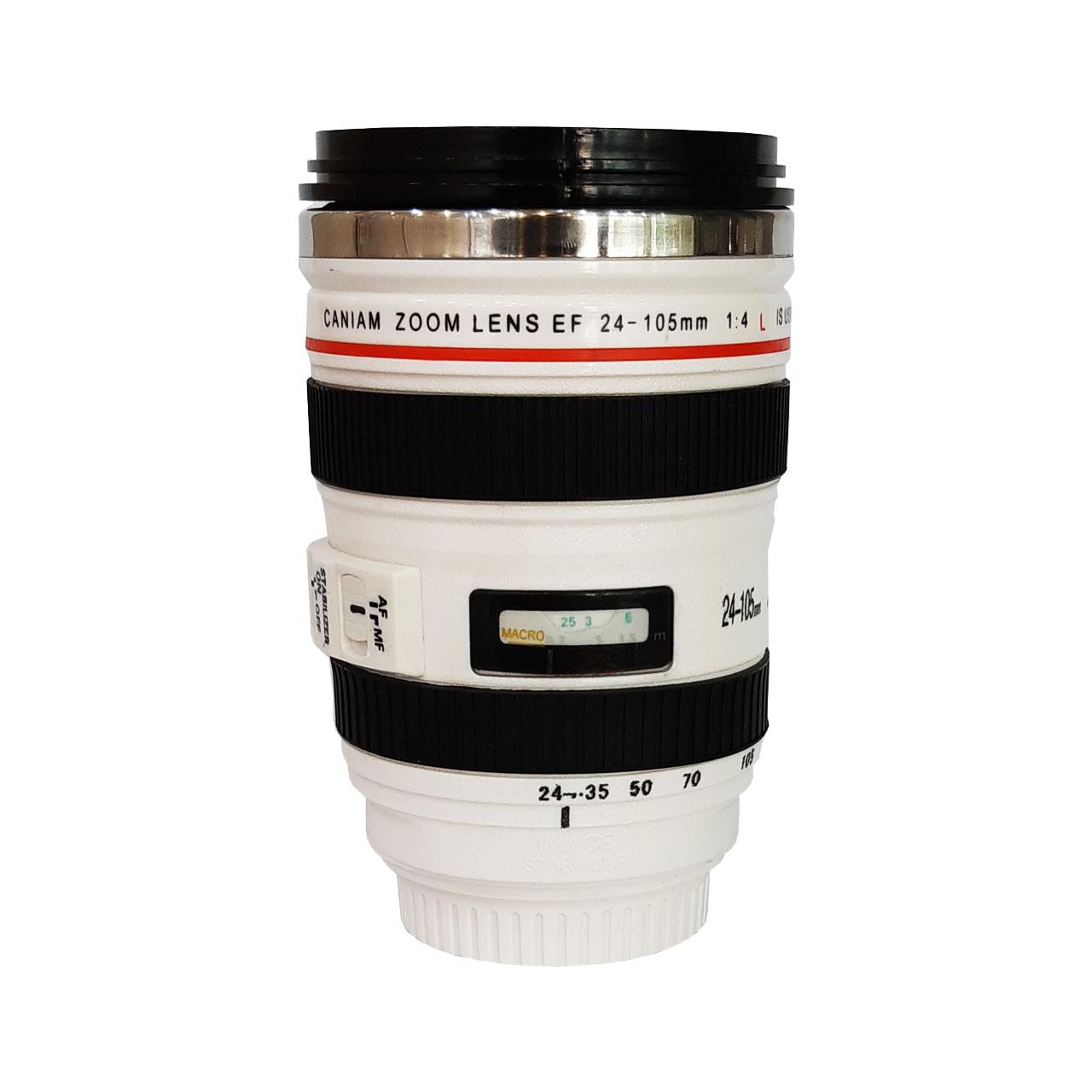ماگ طرح لنز دوربین مدل در شیشه ای