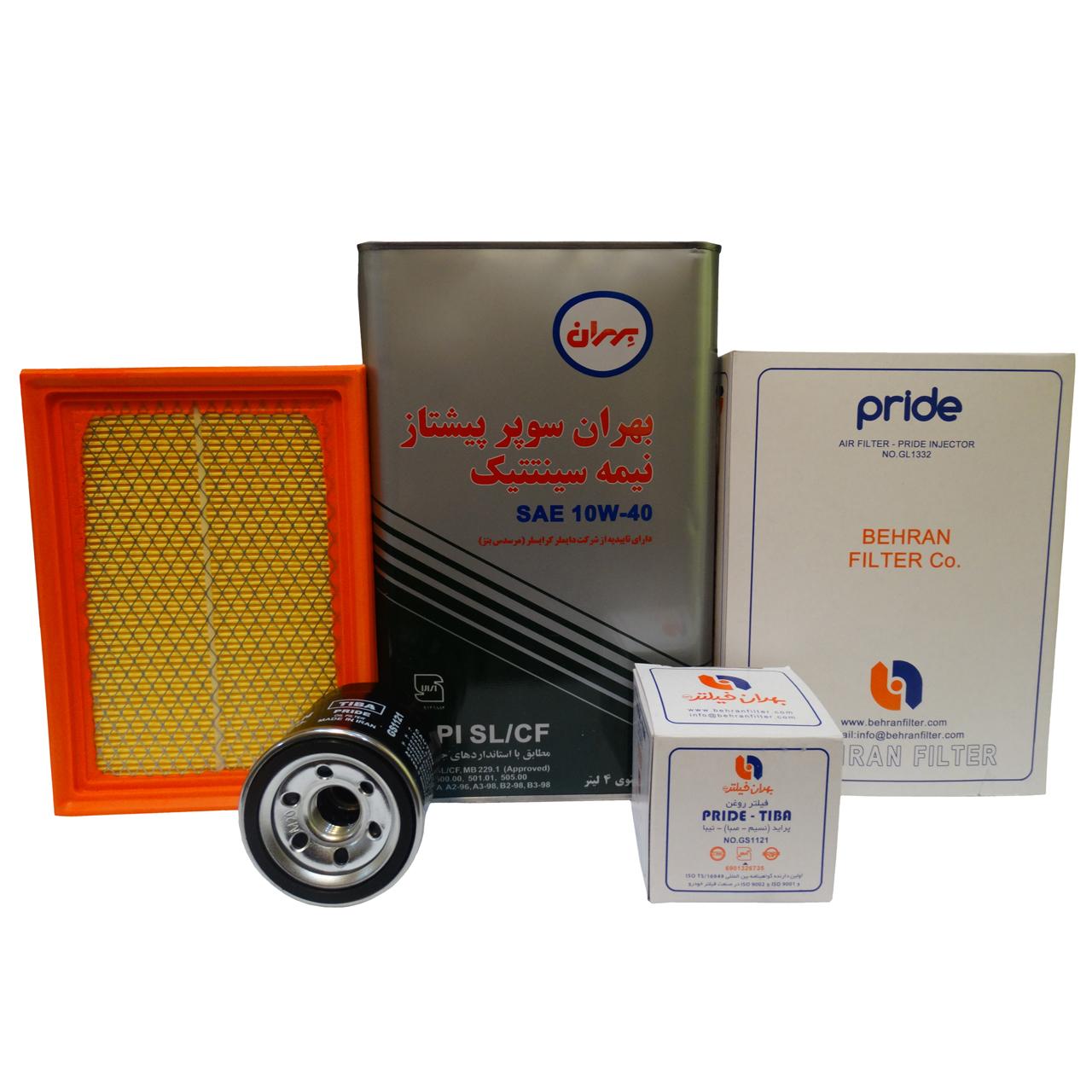 مجموعه تعویض روغن خودرو مدل HM1332/4 مناسب برای پراید EURO4