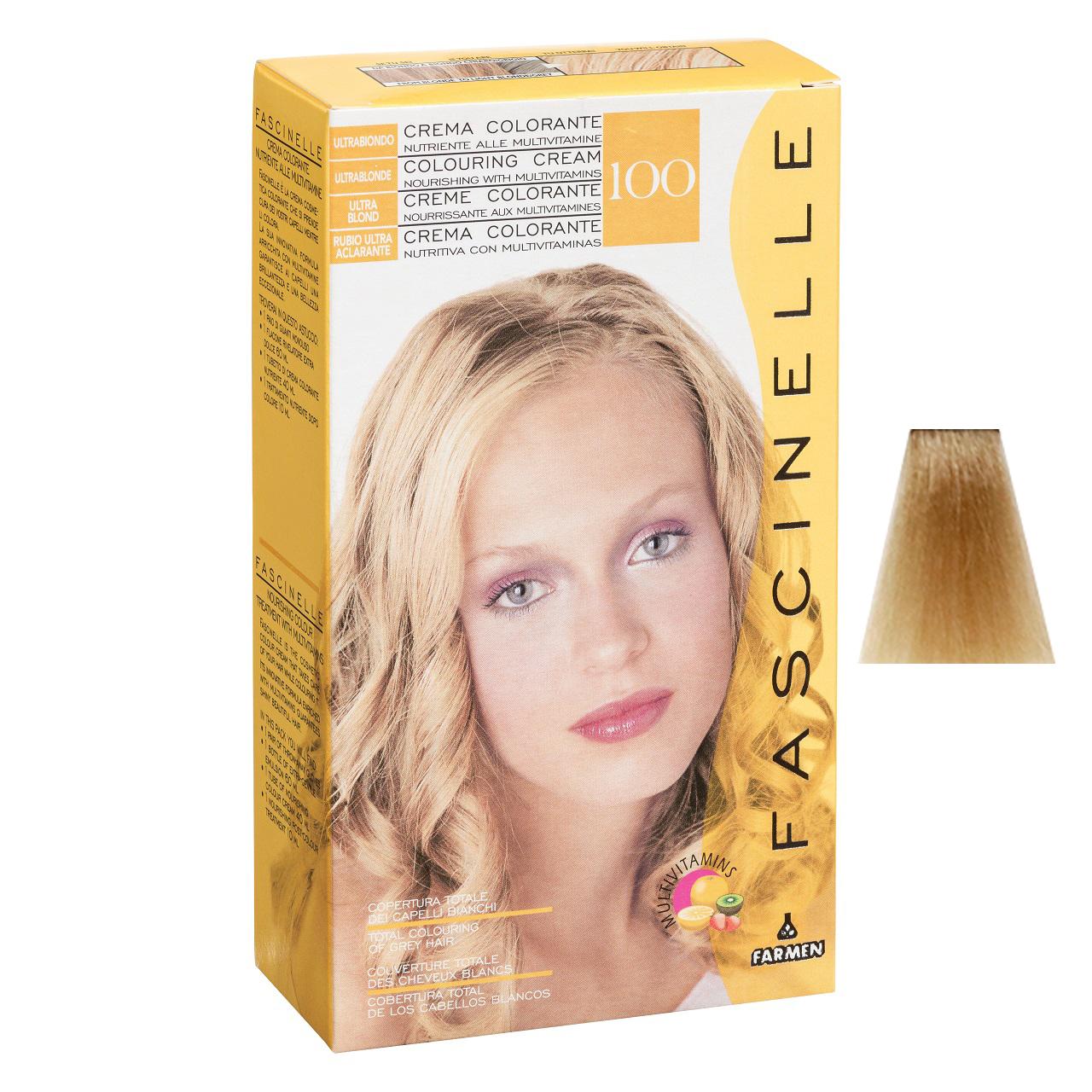 كيت رنگ مو فشینلی سری Blonde مدل بلوند - پلاتيني شماره 100