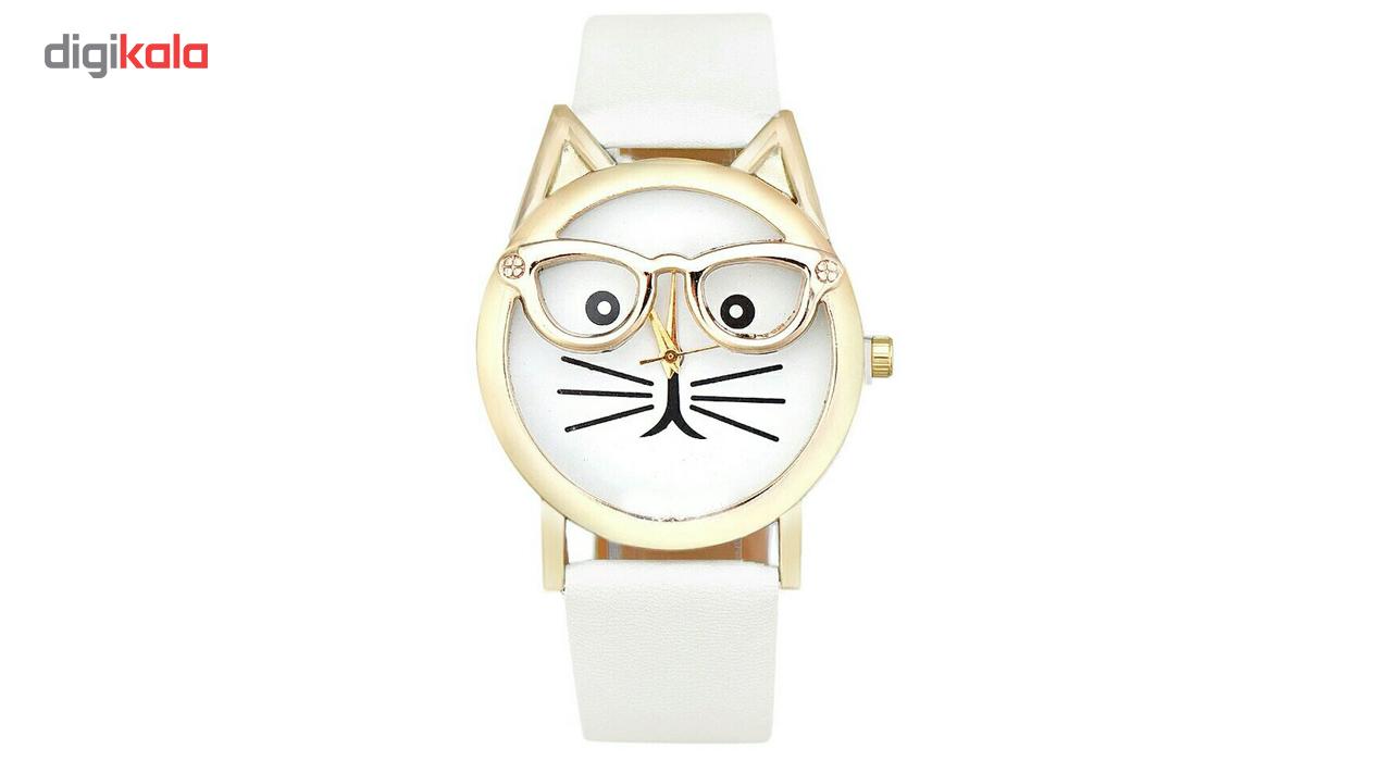 خرید ساعت مچی عقربه ای زنانه مویا طرح گربه 003