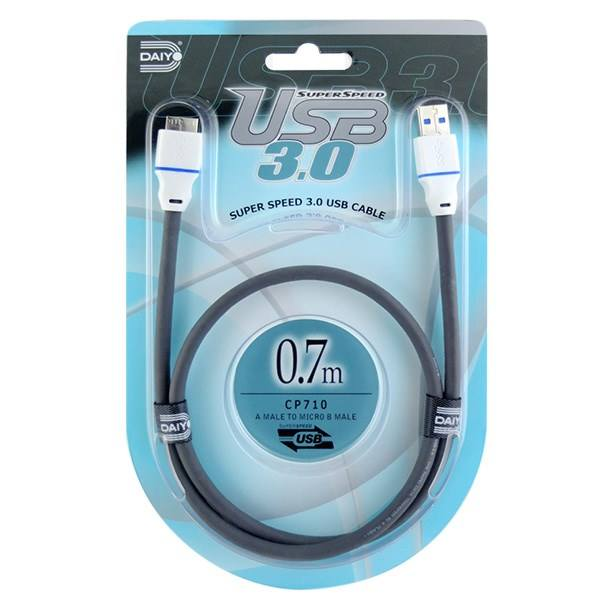کابل تبدیل USB به micro-B مدل CP710 طول 0.7 متر