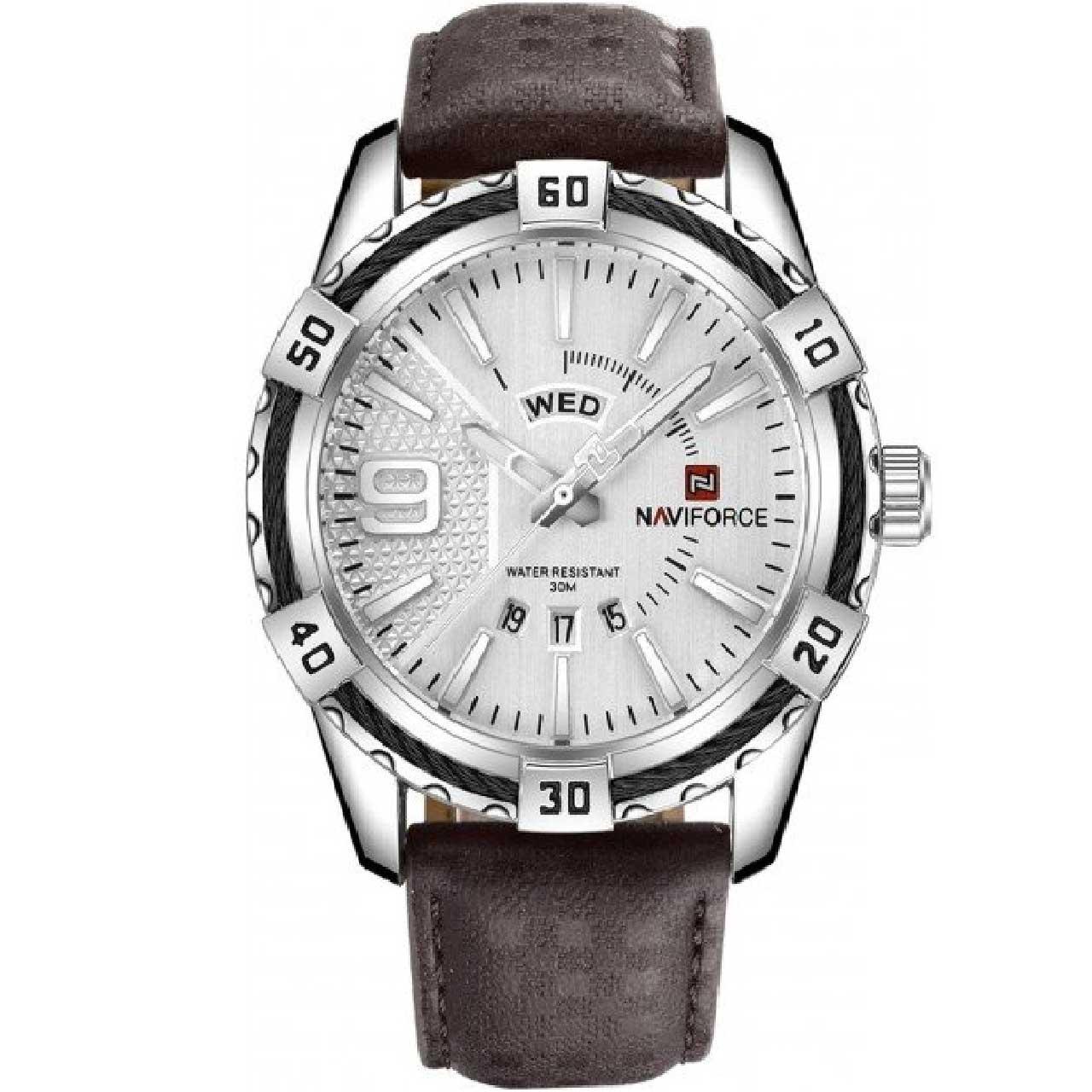 ساعت مچی عقربه ای مردانه نیوی فورس مدل NF9117LSW