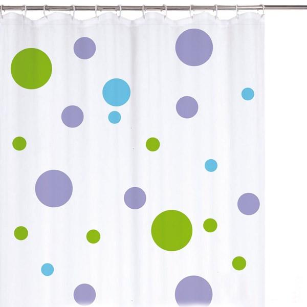 پرده حمام راین سایز 200 × 180 طرح خالدار کد 2350.14