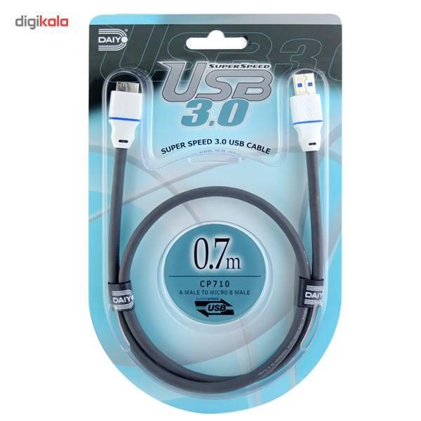 کابل تبدیل USB به micro-B مدل CP710 طول 0.7 متر main 1 1