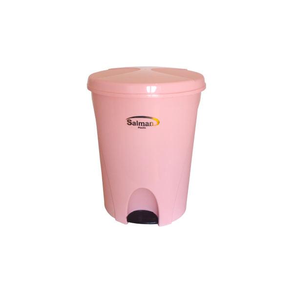 سطل زباله پدالی سلمان پلاستیک مدل گلبرگ 280