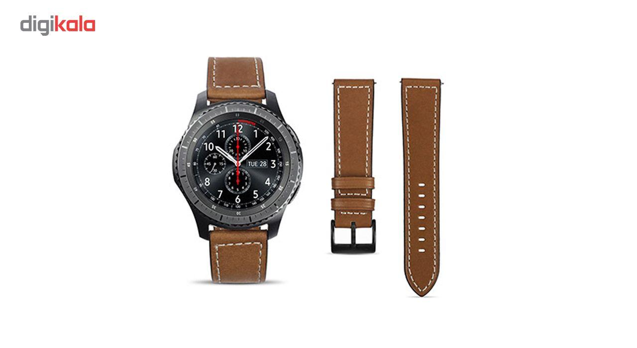 بند چرمی سامسونگ مدل Leather مناسب برای Gear S3 main 1 2
