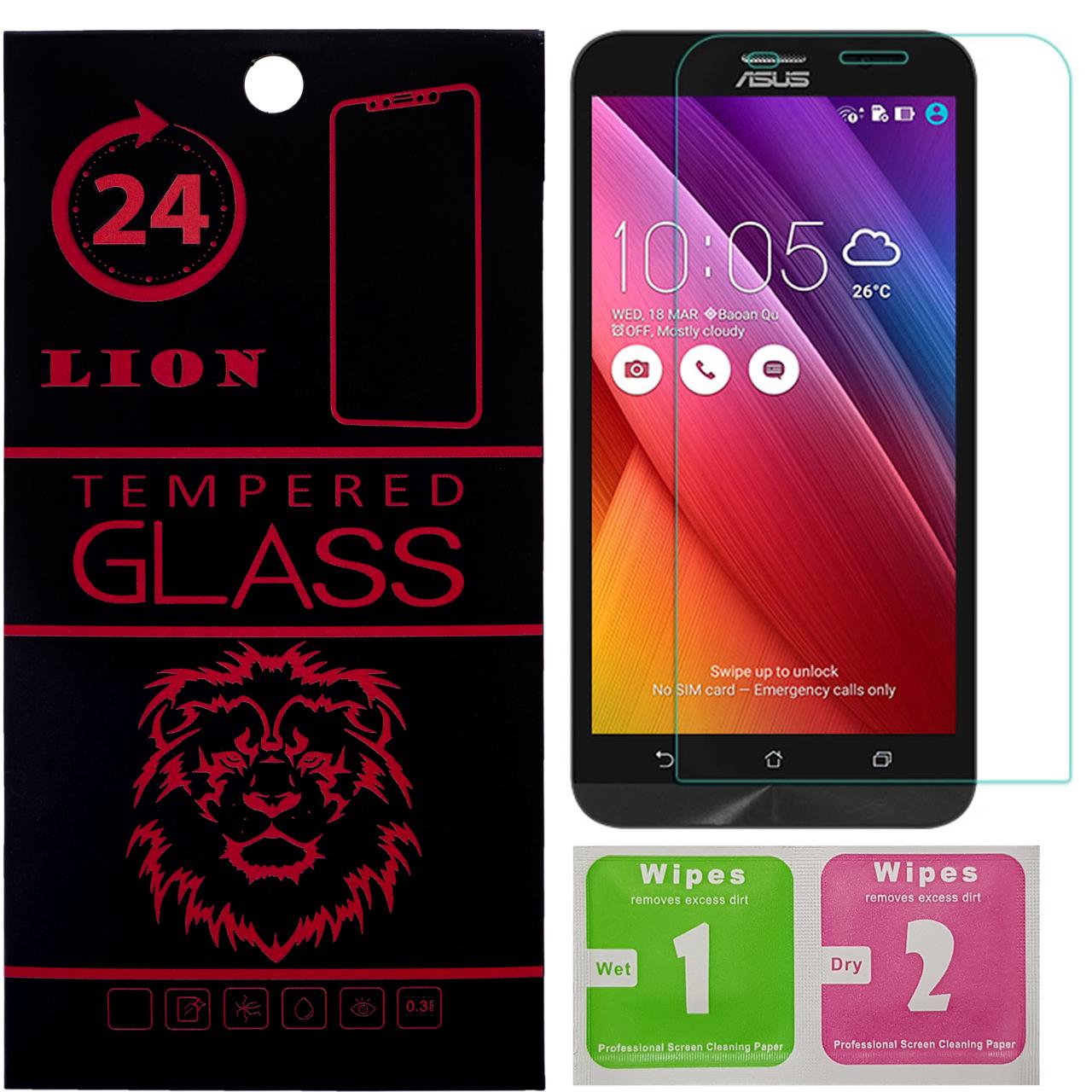 محافظ صفحه نمایش شیشه ای لاین مدل 2.5D مناسب برای گوشی ایسوس Zenfone 2 ZE551ML thumb