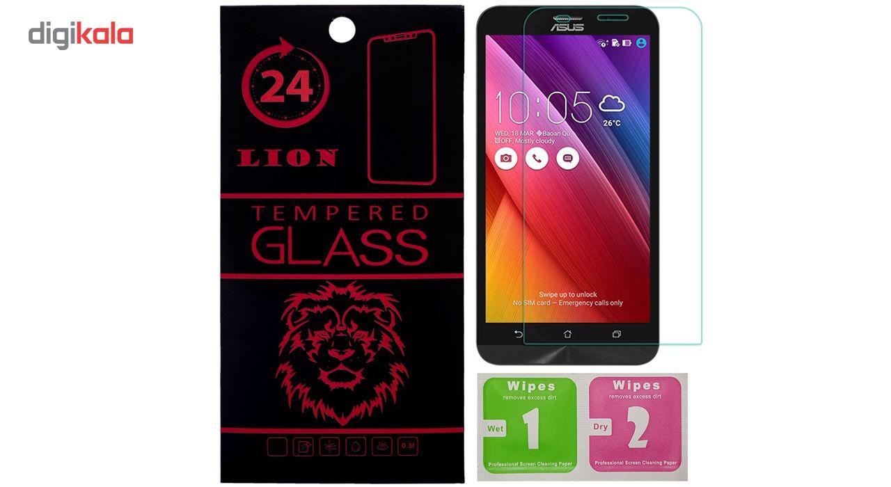 محافظ صفحه نمایش شیشه ای لاین مدل 2.5D مناسب برای گوشی ایسوس Zenfone 2 ZE551ML main 1 1
