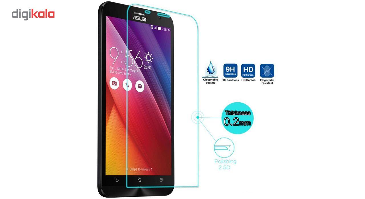 محافظ صفحه نمایش شیشه ای لاین مدل 2.5D مناسب برای گوشی ایسوس Zenfone 2 ZE551ML main 1 2