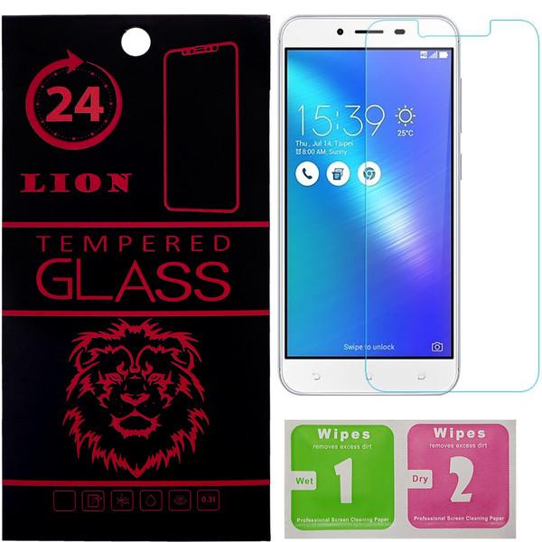 محافظ صفحه نمایش شیشه ای لاین مدل 2.5D مناسب برای گوشی ایسوس Zenfone 3 Max ZC553KL
