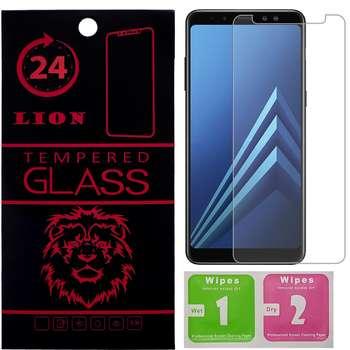 محافظ صفحه نمایش شیشه ای لاین مدل 2.5D مناسب برای گوشی سامسونگ A8 Plus 2018