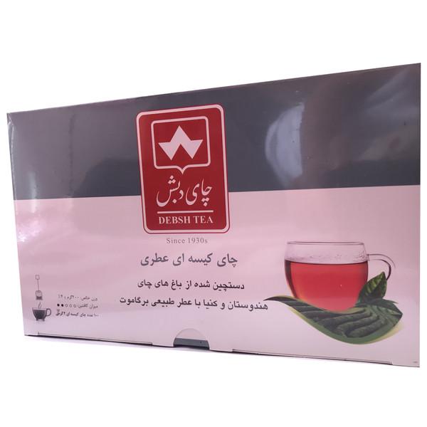 چای کیسه ای دبش مدل عطری بسته 100 عددی