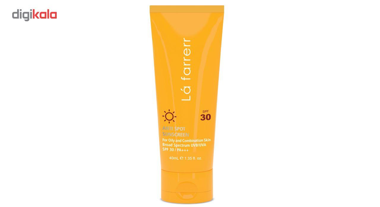 کرم ضد آفتاب و ضد لک لافارر مدل Oily and Acne-Prone SPF30 حجم 40 میلی لیتر -  - 3