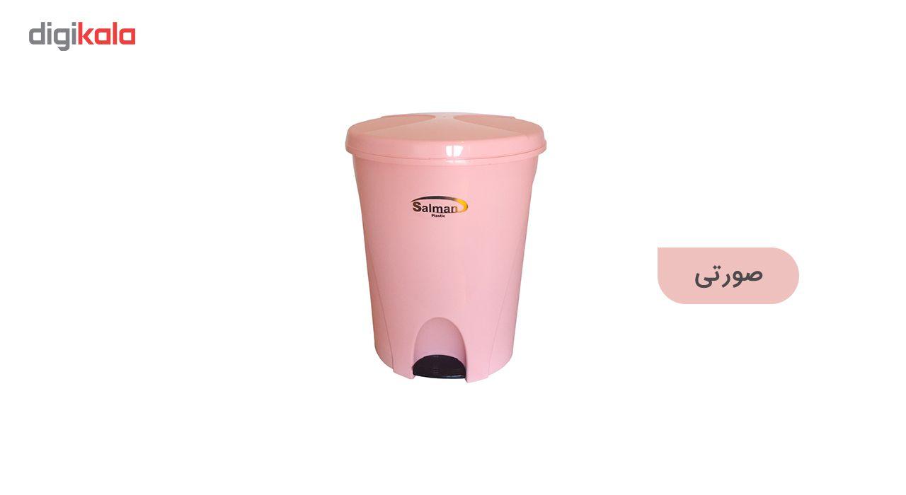 سطل زباله پدالی سلمان پلاستیک مدل گلبرگ 280 main 1 1