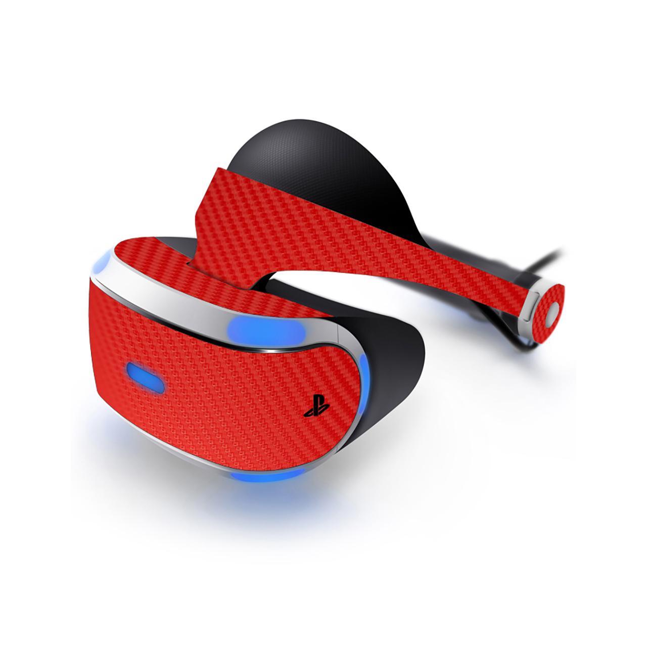 برچسب طرح فیبر-قرمز ماهوت مناسب برای عینک واقعیت مجازی  PlayStation VR
