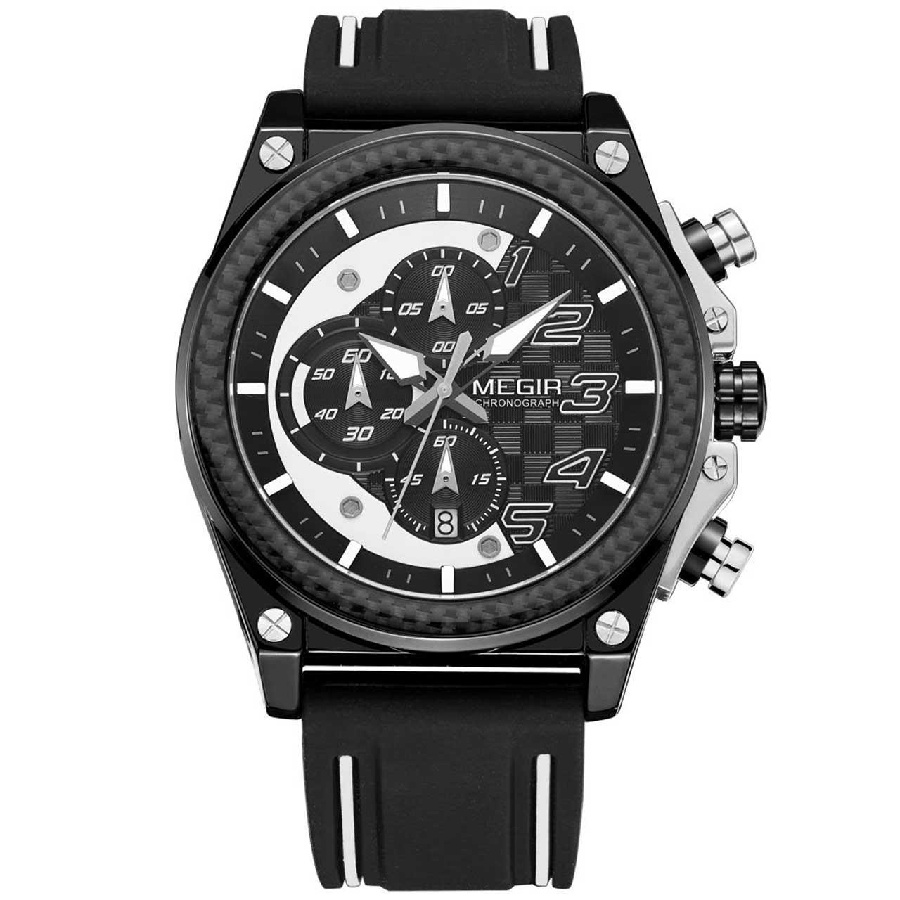 ساعت مچی عقربه ای مردانه مگیر مدل MN2051G-BK-1N7