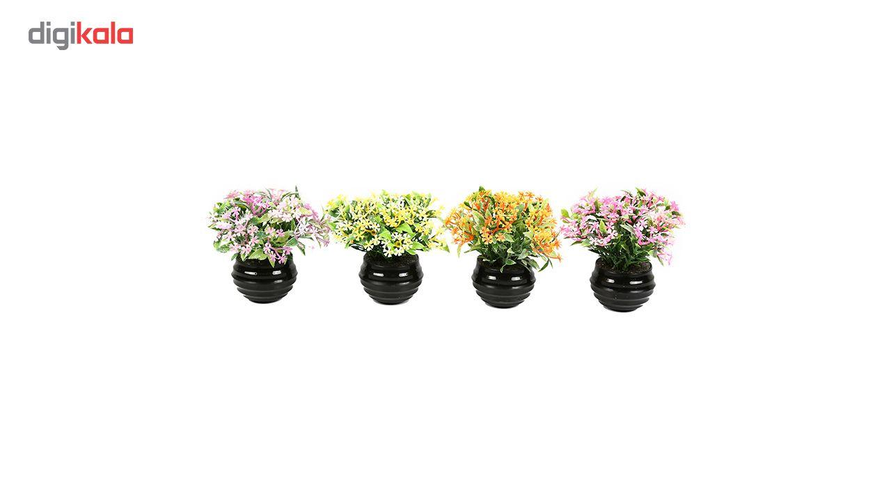 گلدان دکوری به همراه گل مصنوعی هومز مدل 41501 مجموعه 4 عددی main 1 1