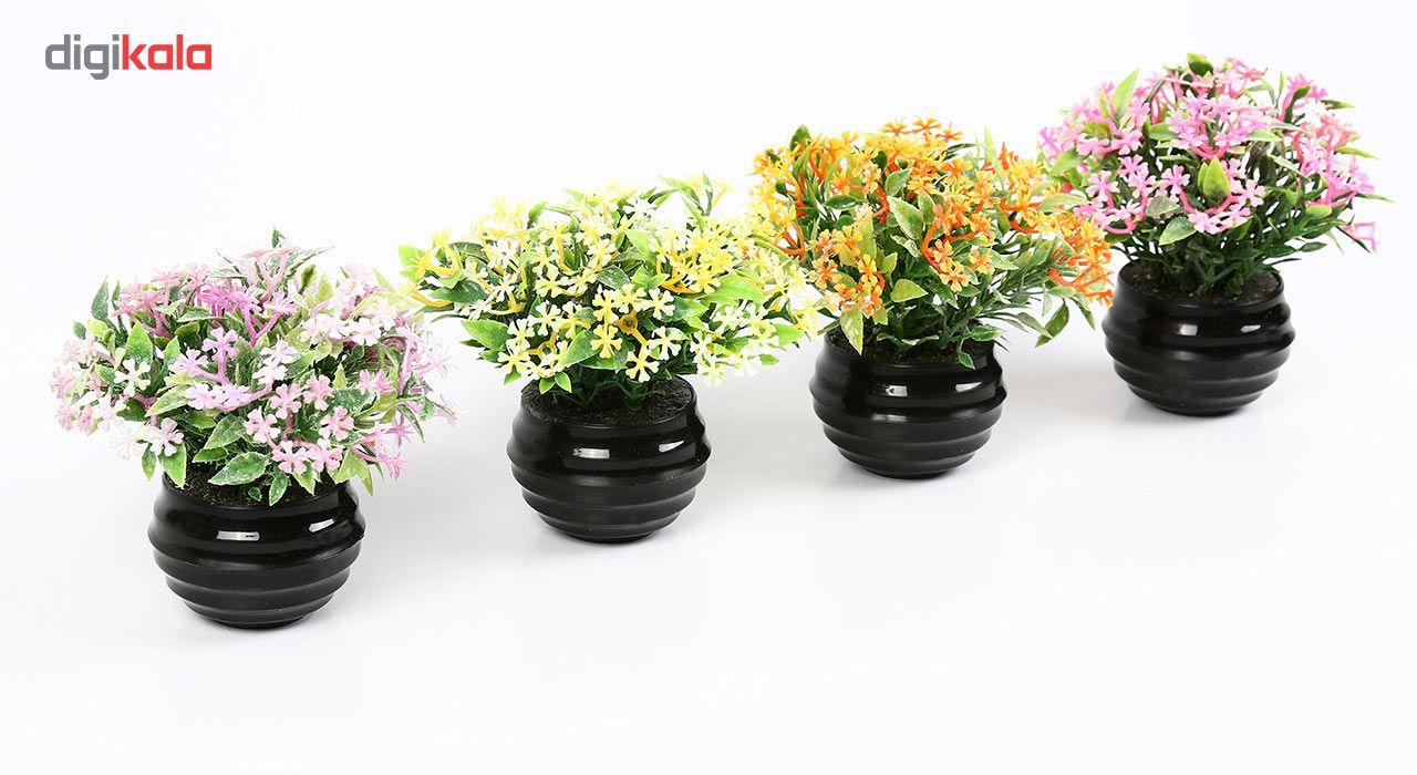 گلدان دکوری به همراه گل مصنوعی هومز مدل 41501 مجموعه 4 عددی main 1 3