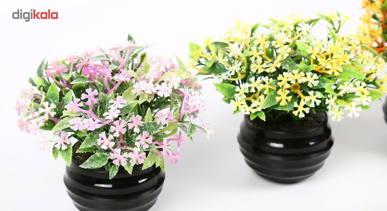 گلدان دکوری به همراه گل مصنوعی هومز مدل 41501 مجموعه 4 عددی main 1 4