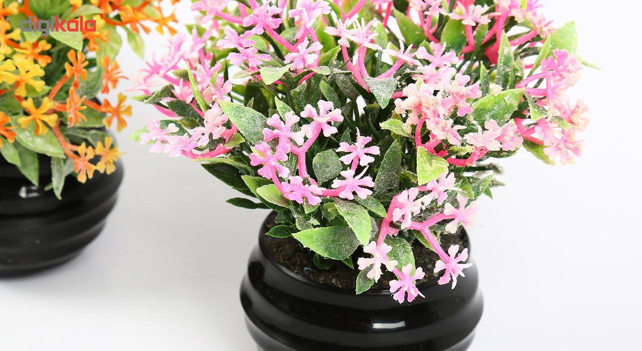گلدان دکوری به همراه گل مصنوعی هومز مدل 41501 مجموعه 4 عددی main 1 5