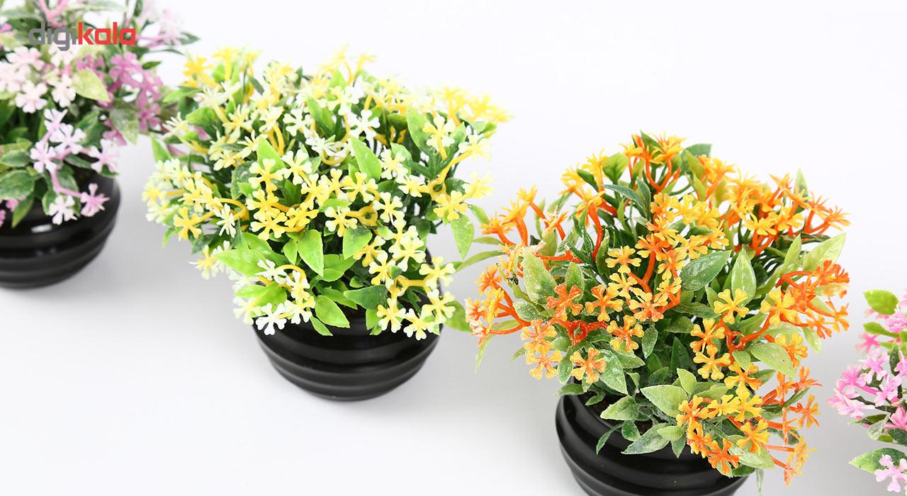 گلدان دکوری به همراه گل مصنوعی هومز مدل 41501 مجموعه 4 عددی main 1 6