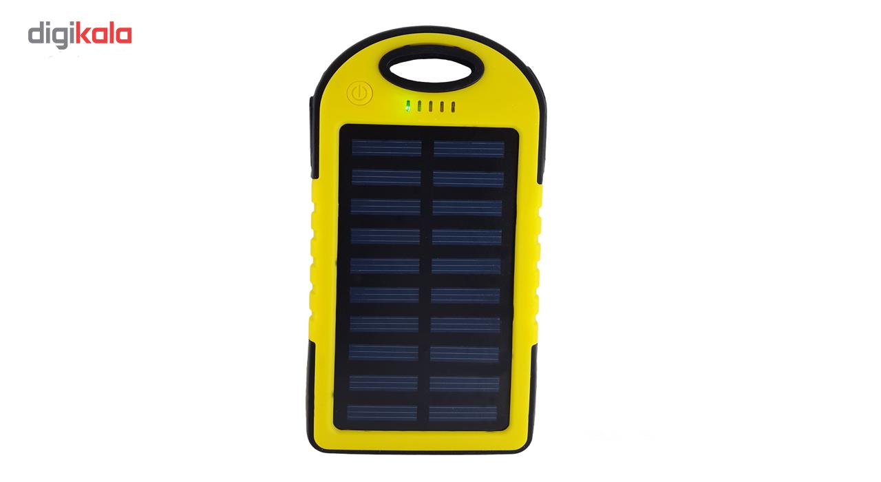 شارژر همراه خورشیدی اس اچ مدل ES-500 با ظرفیت 5000 میلی آمپر ساعت