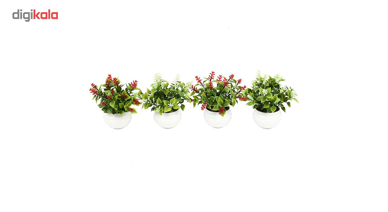 گلدان دکوری به همراه گل مصنوعی هومز مدل40801 مجموعه 4 عددی main 1 1