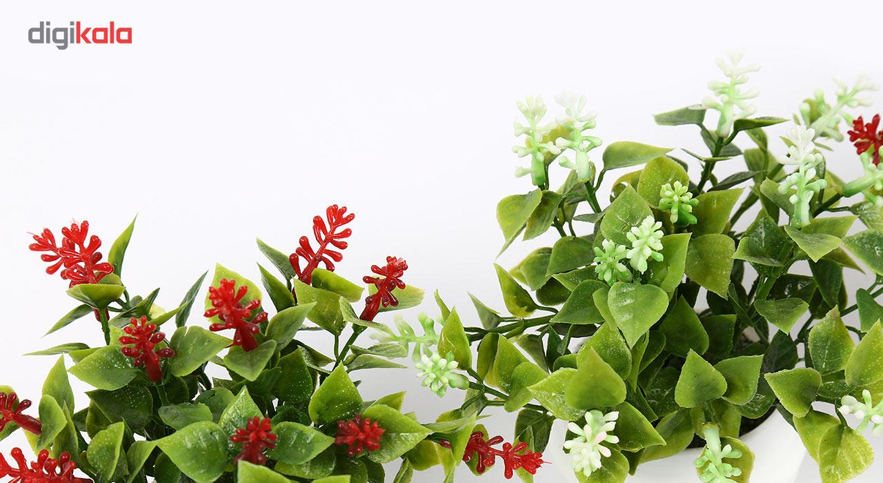 گلدان دکوری به همراه گل مصنوعی هومز مدل40801 مجموعه 4 عددی main 1 4