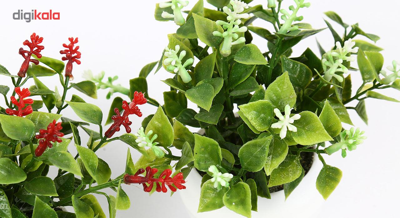 گلدان دکوری به همراه گل مصنوعی هومز مدل40801 مجموعه 4 عددی main 1 5