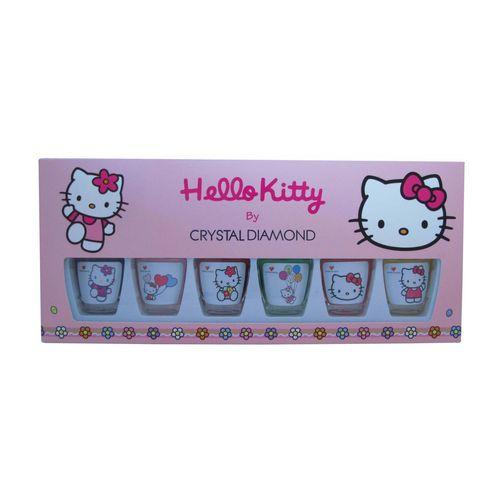 مجموعه 6 عددی لاک کریستال دایموند سری Hello Kitty