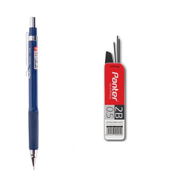 مداد نوکی 0.5 میلی متری پنتر مدل کلاسیک همراه نوک مداد مکانیکی سایز 0.5