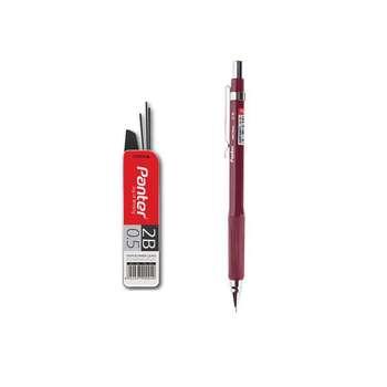 مداد نوکی 0.5 میلی متری پنتر زرشکی مدل کلاسیک به همراه نوک مداد نوکی سایز 0.5