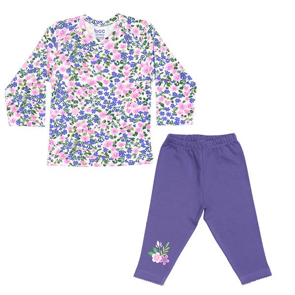 ست تی شرت و شلوار نوزادی بی سی سی طرح Lovely