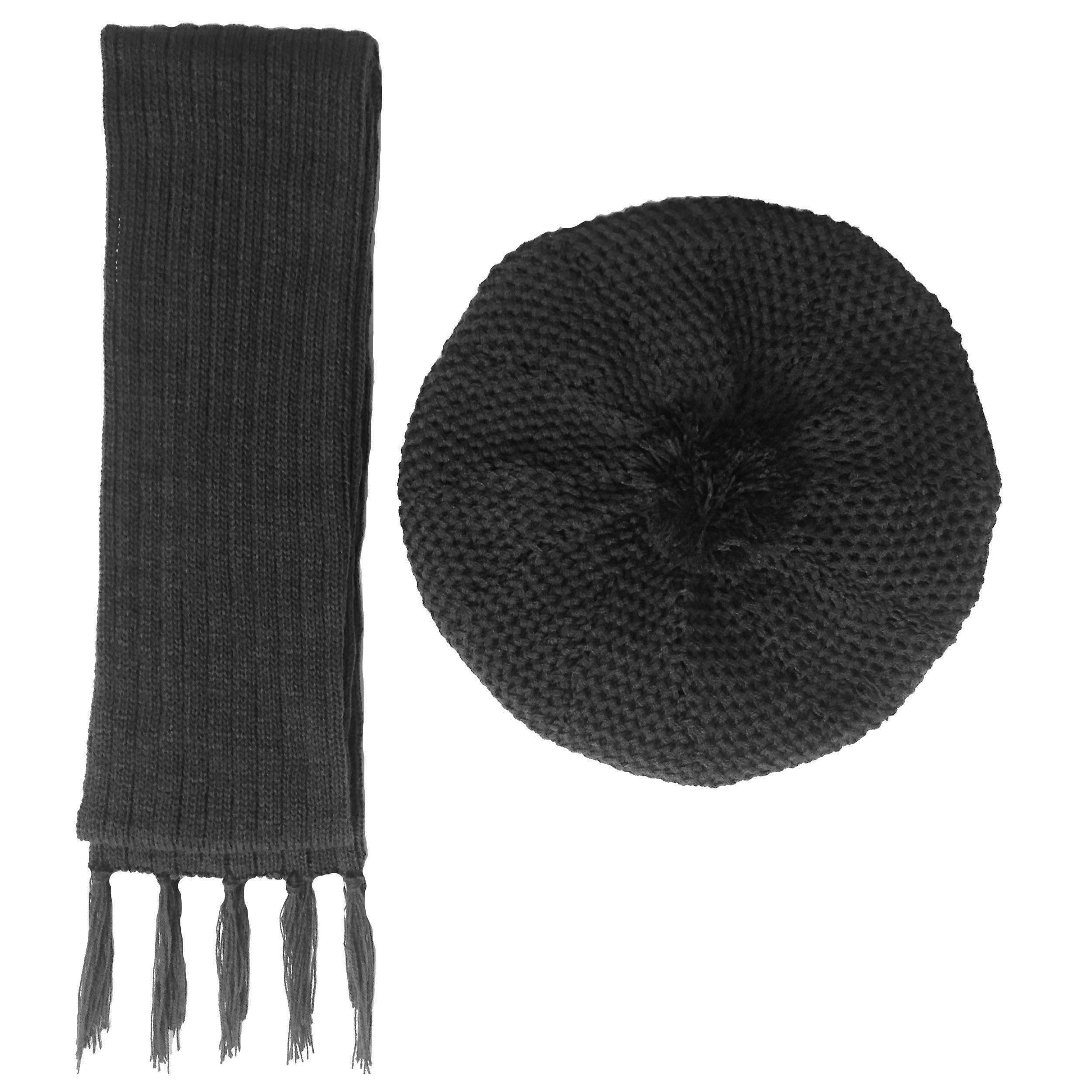 ست کلاه و شال گردن بافتنی زنانه کد B4
